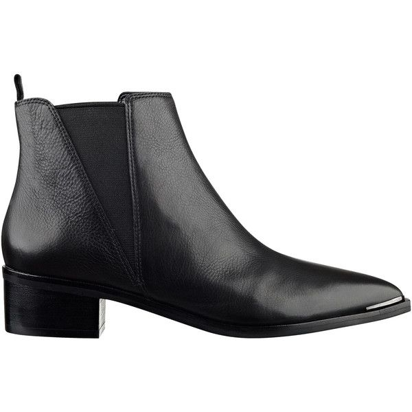 Yale Pointy Toe Chelsea Bootie (2.770 ARS) ❤ liked on Polyvore featuring shoes, boots, ankle booties, pointy-toe ankle boots, ankle boots, pointed toe bootie, pointed-toe chelsea boots and pointed toe booties