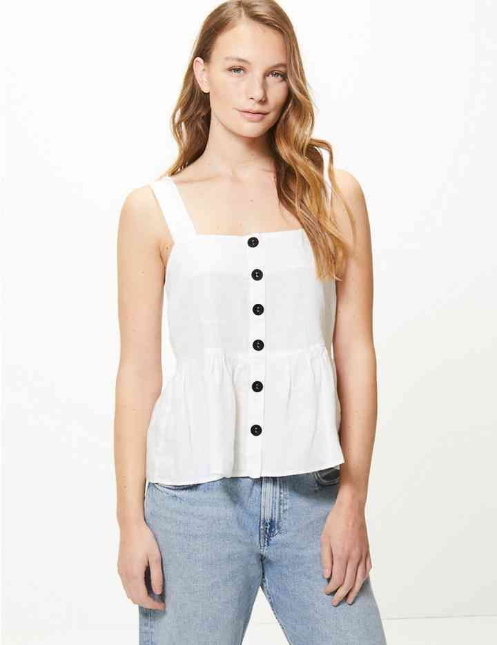 c417a1fad0 Pure Linen Camisole Top | ❤look at me❤️ | Camisole top, Camisole ...