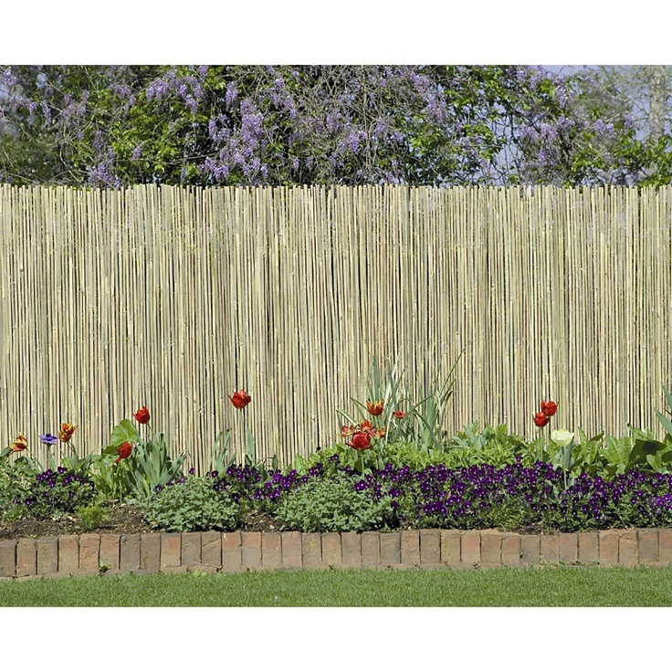 gardman 60 x 13 split bamboo fencing and screening garden edging