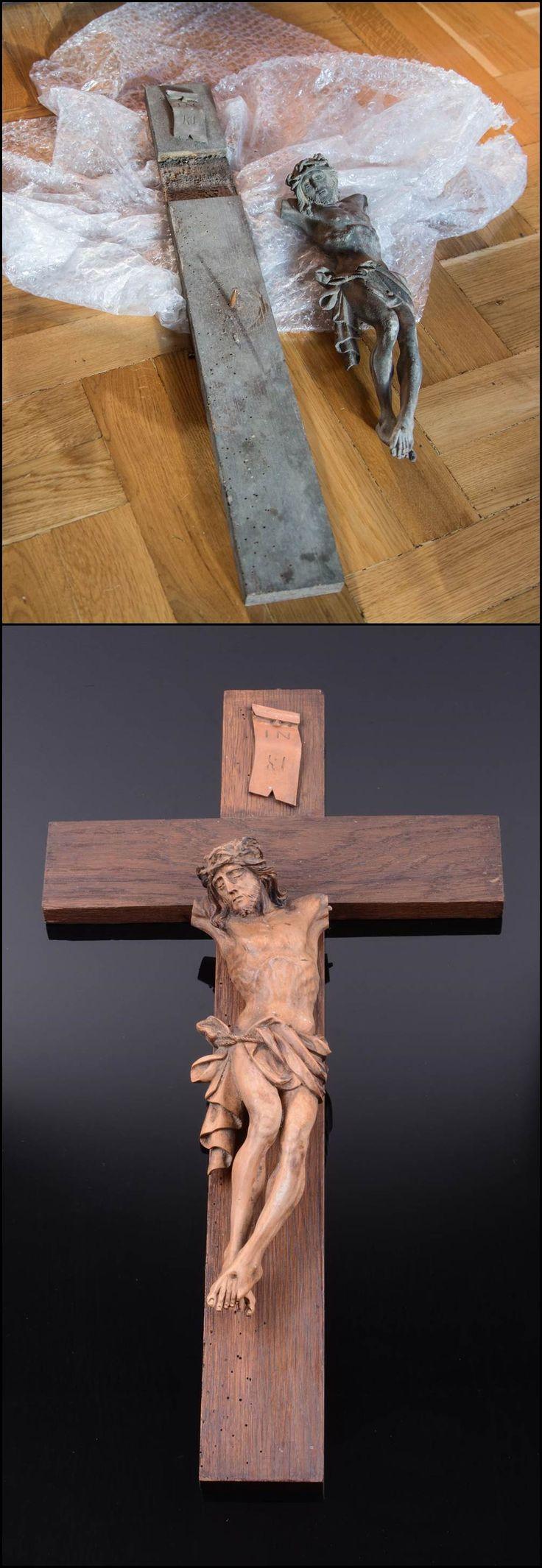 Przy odrobinie wiedzy i cierpliwości można przywrócić do życia prawdziwe perełki. Drewniany krucyfiks wyszedł po prostu wspaniale.