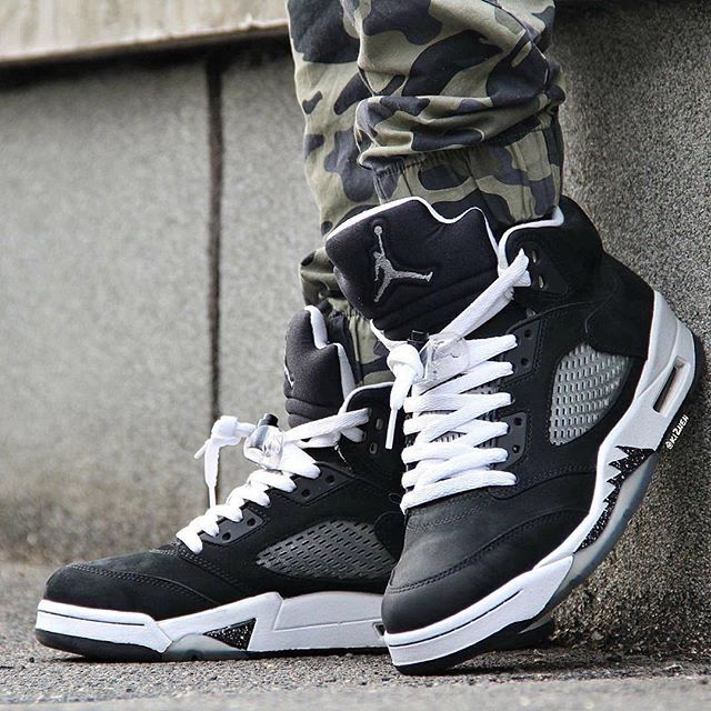 Nike Air Jordan 5 Oreo | Shoes, clothes, accessories, hair. | Pinterest | Running shoes, Roshe and Nike