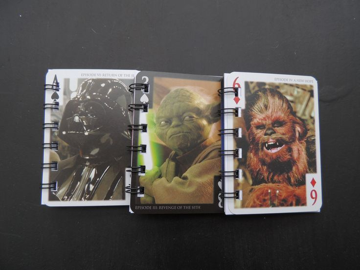 These 10 Star Wars note books are made from upcycled Star Wars Cards. The notebooks consist of Star Wars cards for the front and back covers as well as 45 sheets on which to draw, write and use in any way you like.   These handmade Star Wars notebooks make a lovely gift - perfect for children's parties, Christmas stocking fillers or are great for on the go. They are also perfect for adult star wars fans!