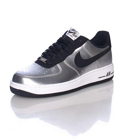 Nike Air Force 1 25th Low Mens Running Shoe Black White Logo