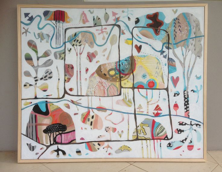 Artist: Olivia Denahy A whimsical map of life's journey