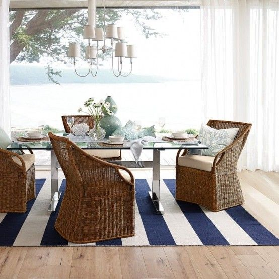26 Relaxing Coastal Dining Rooms And Zones | DigsDigs