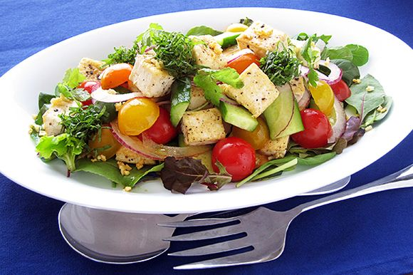 豆腐で 和風グリーク(ギリシャ)サラダ