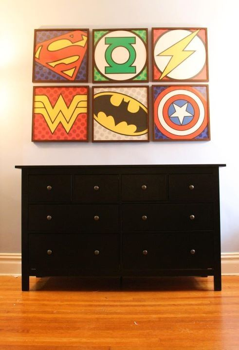 The main focal point of our child's vintage comic book nursery. nickbaldwin79