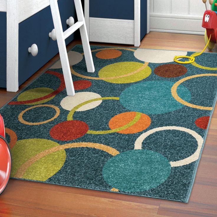 kidu0027s gumball rug in admiral blue