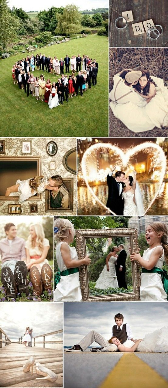 creative wedding photos...and our bridal party is big enough to do the heart! :)