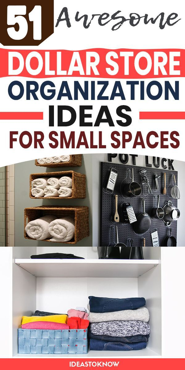 51 Dollar Store Organization Ideas For Small Spaces In 2021 Dollar Store Organizing Store Organization Dollar Store Diy Organization