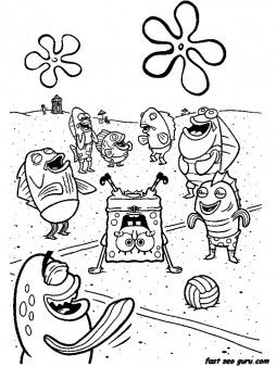 Printable cartoon network spongebob coloring in sheets - Printable Coloring Pages For Kids