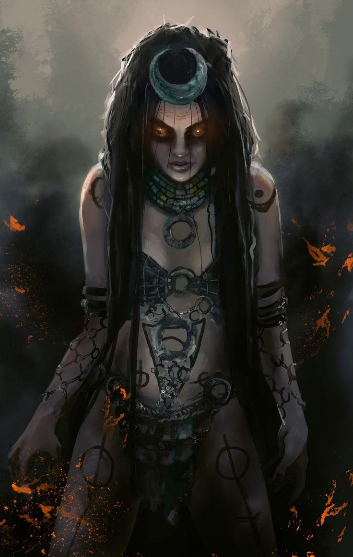 Enchantress , Inga Siebert on ArtStation at https://www.artstation.com/artwork/enchantress-18
