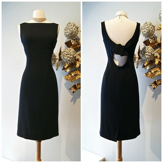 1960s Couture Vintage Inspired Black Wiggle Dress by xtabayvintage, $698.00