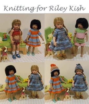 "Knitting patterns for 8"" Riley Kish dollKish Dolls, Dolls Pattern, Dolls I, Dolls Clothing, Dolls Crochet, Dolls Dresses"