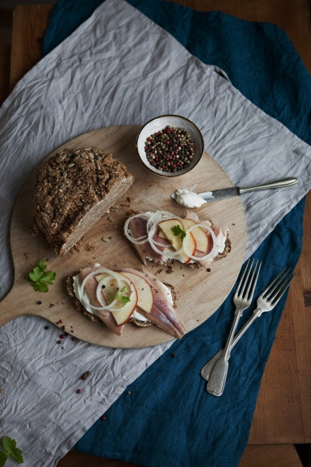 soda bread with smoked herring