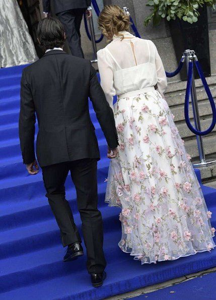 15 June 2017 - Swedish Royal Family attend Polar Music Prize - skirt by Ida Sjöstedt, sandals by Marchesa, clutch by Bottega Veneta