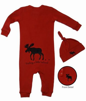 Moose Red Coverall Sizes 12 18 Months Or 18 24 Months
