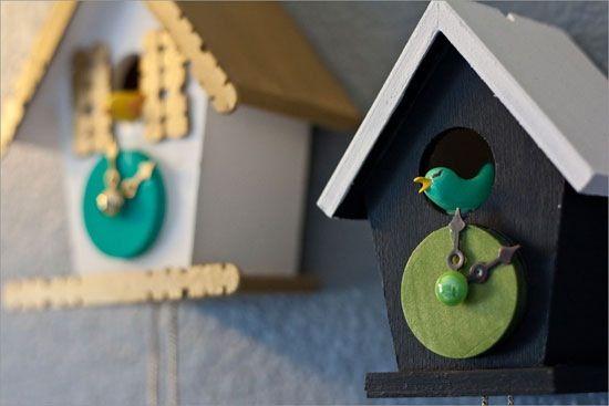 Birdhouse clocks