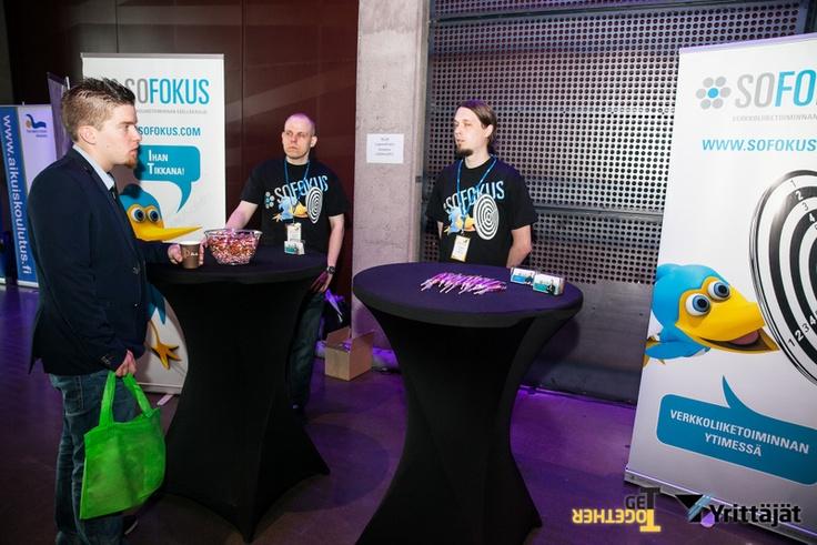 Sofokuksen Timo ja Tomi #GETTO13 nuorten yrittäjien GeTTogether-tilaisuudessa