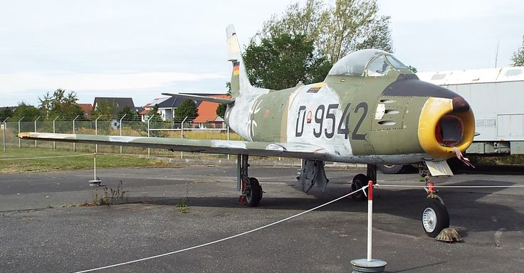 US North American F-86 Sabre 1956 Luftwaffe Museum Gatow Berlin