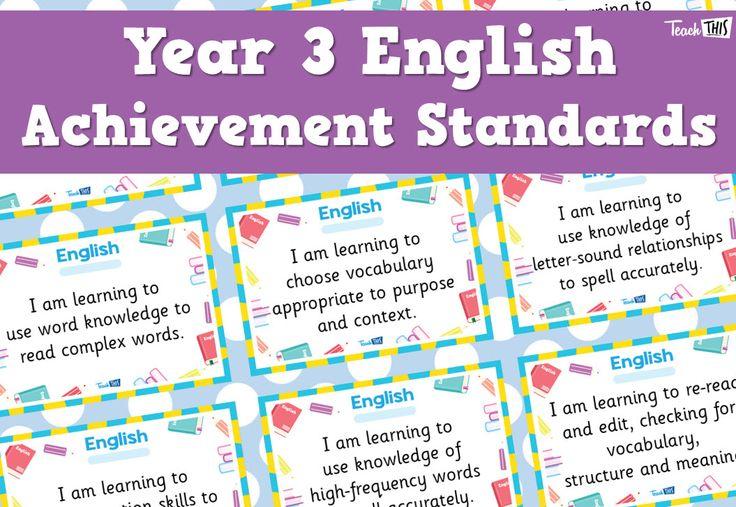 English Achievement Standards - Yr3