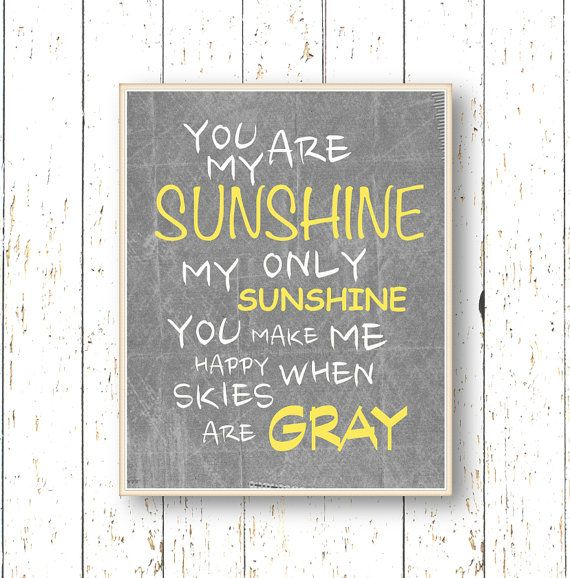 You are my Sunshine  Art for children  Kids wall art  by LilChipie, $14.00
