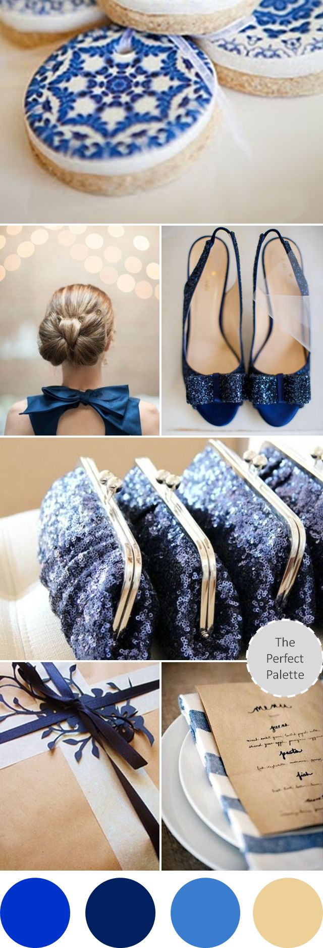 Wedding Colors I Love | Shades of Blue + Beige