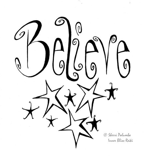 Believe/ Reiki Art/ Law of Attraction by InnerBlissReiki on Etsy, $13.00