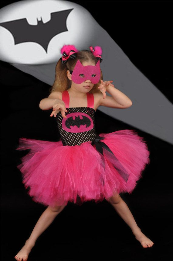 Batman superhero girly costume black and pink...Rylie would love this :)