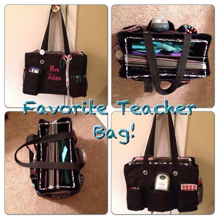Organizing Utility Tote! Best teacher bag ever!