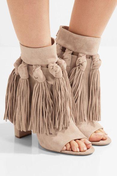 Chloé | Tasseled suede ankle boots | NET-A-PORTER.COM