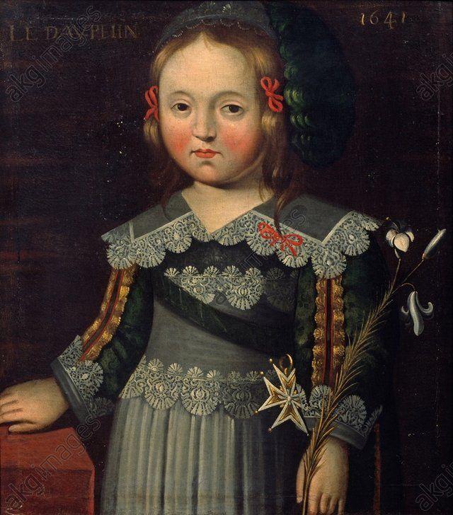 Louis XIV as Dauphin, 1641, French school