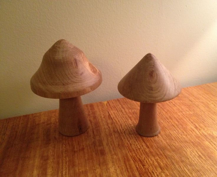 Turned mushrooms for playtime :) #lathe #woodworking