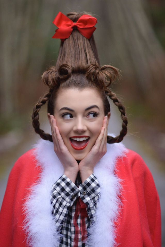 Cindy Lou Who Hairstyles By Gabby Cindy Lou Hair Cindy Lou Who Hair Hair Styles