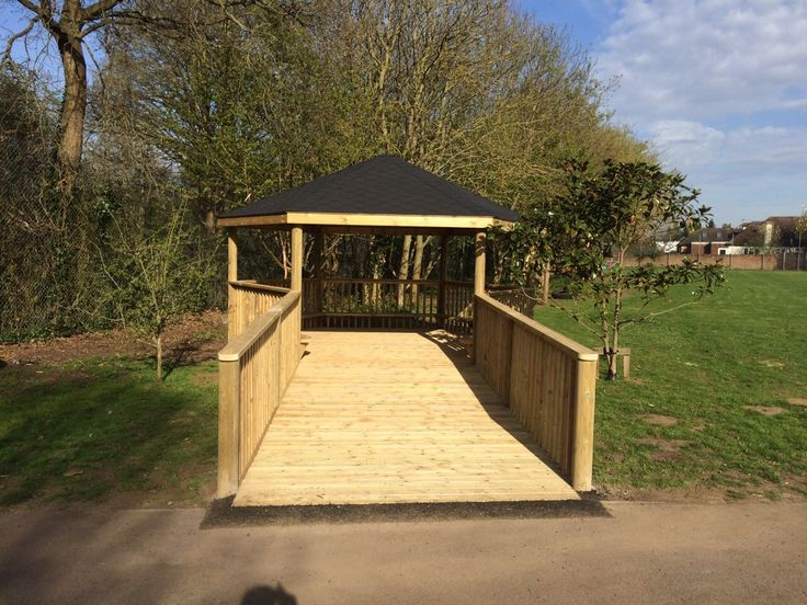 A glamorous red carpet? Bridge over dangerous crocodile infested waters? Walking the plank on a pirate ship? We wonder where this timber playground shelter with a ramp that we installed St Nicholas Primary School and their imaginations will take pupils there…