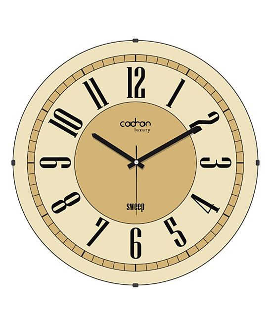 Beige 'Sweep' Wall Clock