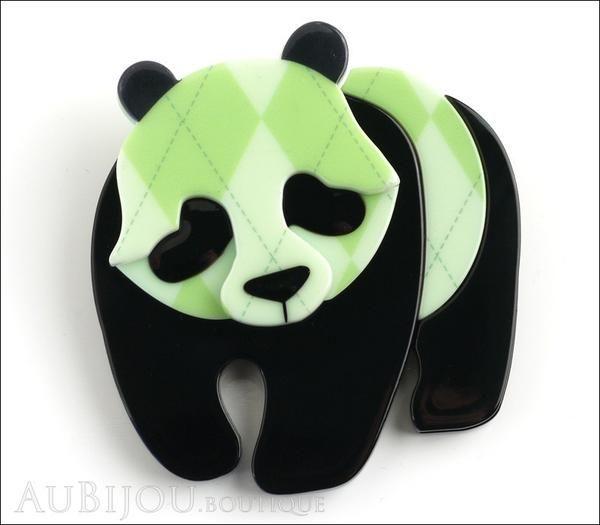 Erstwilder Pin Brooch Pepe the Pondering Panda Front