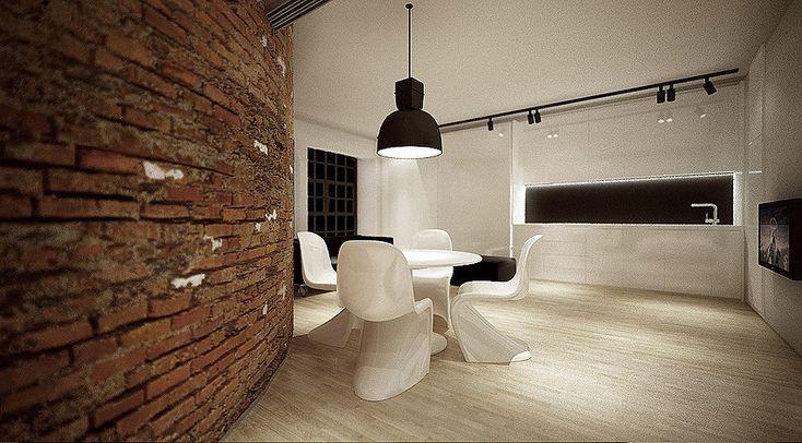 Дизайн квартиры-студии в Польше от Moomoo Architects
