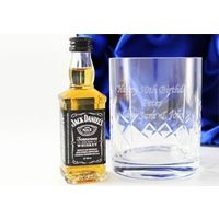 Personalised Crystal Tumbler and Jack Daniels Gift Set - Jack Daniels Gifts