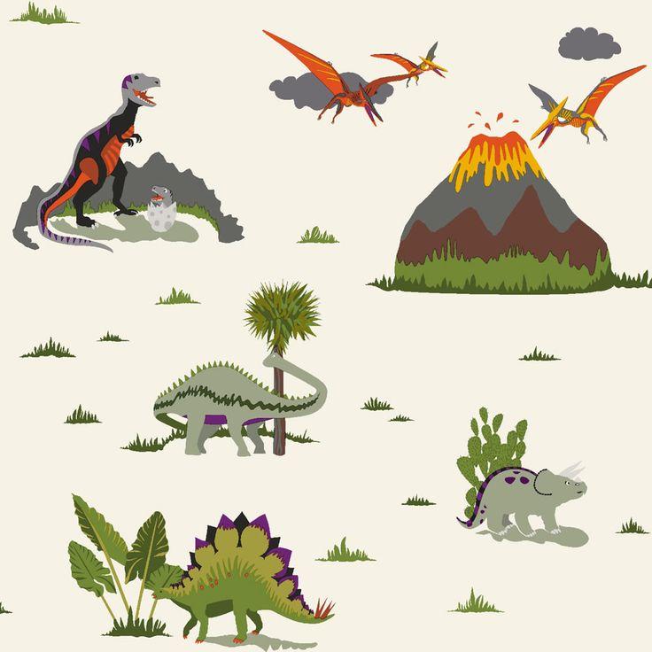 Holden K2 Kids Jurassic Multi Wallpaper