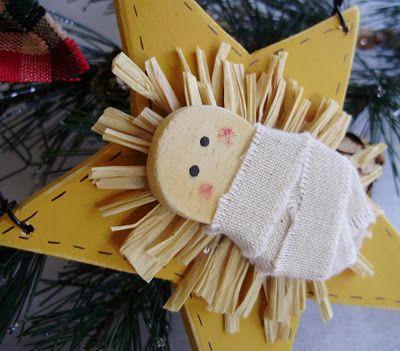 baby jesus ornamentSunday School, Christmas Crafts, Baby Jesus, Diy Ornaments, Country Christmas, Christmas Decor, Christmas Ornaments, Classroom Ideas, Jesus Ornaments