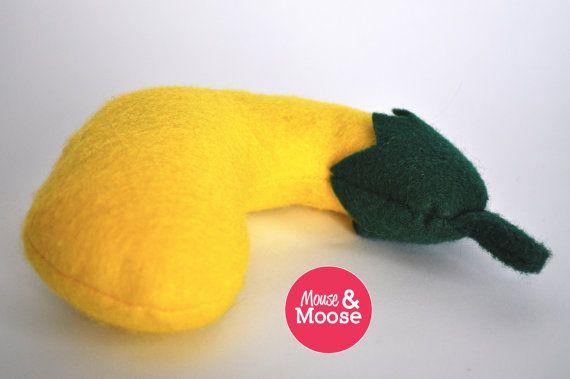 Eco Friendly 100 Wool play Squash felt food play by MouseAndMoose
