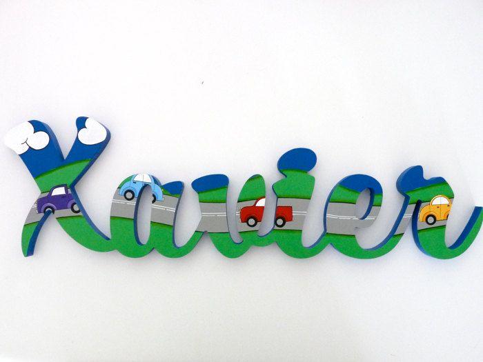 Wooden names Kids name signs Custom name sign Kids Room