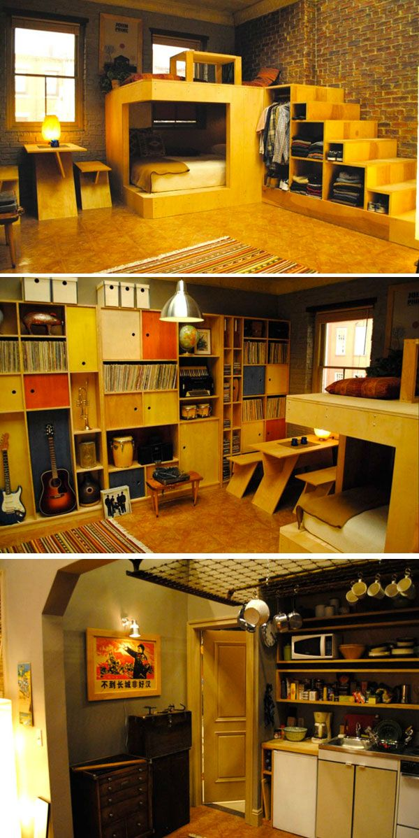 """Charlie's studio apartment from """"Girls"""" on HBO"""