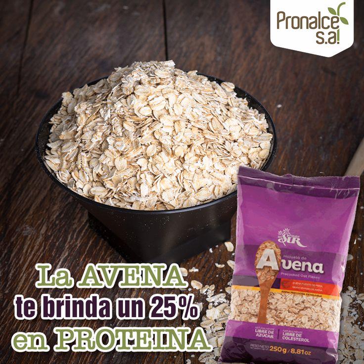 La avena está en el top de los  cereales porque posee hasta un 25% de proteína, superando a cualquier otro. Lleva contigo nuestras #Avenas en hojuelas o en harina y disfruta todos sus beneficios.#Pronalce #DelSur #Chocotom #cereal #breakfast #desayuno #avena #integral #salud #saludable #feliz #love #hojuelas #maiz #lonchera #snack #granola #frutosrojos #banano #deleitar #alimentos #granos