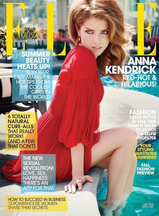 Anna Kedrick Covers ELLE July 2014 - theFashionSpot