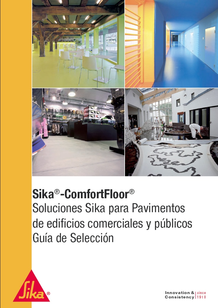 "Portada del folleto ""#Sika Confort Floor"""