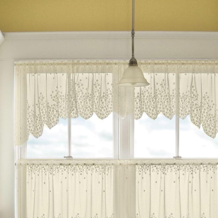 "5 Fresh Ideas For Kitchen Window Treatments: Findlay Seaglass Sleeve Topper 52"" Curtain Valance"