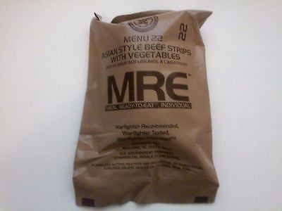 Food And Drink: Mre Menu 22 Meals Ready To Eat Asian Beef Tips With Vegetables -> BUY IT NOW ONLY: $8.99 on eBay!