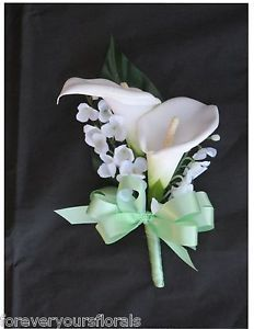 Mint Calla Lily Mother's Corsage on eBay